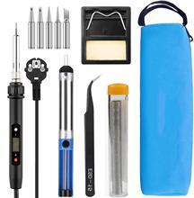 80W Electric soldering iron temperature adjustable 220V 110V Welding Solder iron rework station soldering iron accessories