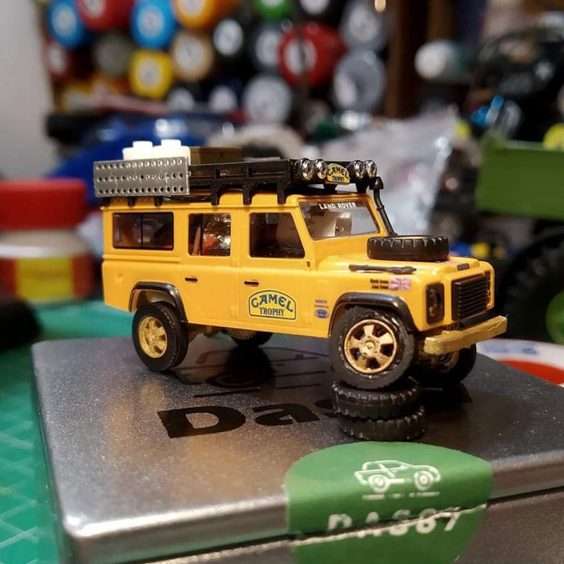 DasMikro DS87A01 OP 1/87 4x4 1:100 Truck Chassis DIY Standard Version Kit With 3D Printed Body And Motor
