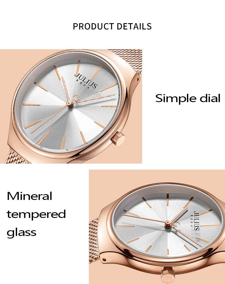 correia pulseira relógios senhoras relógio de negócios reloj