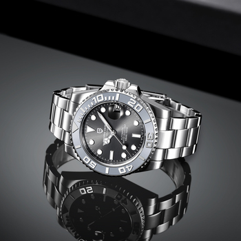 PAGANI Design Men Automatic Watch Sapphire Luxury Mechanical Wristwatch Stainless Steel Waterproof Watch Men Mekaniska klockor 6