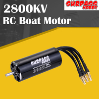 SURPASS HOBBY 2968 2800KV Brushless Waterproof Motor 4 Pole 4mm Shaft For 600 800mm RC Boat Spare Parts