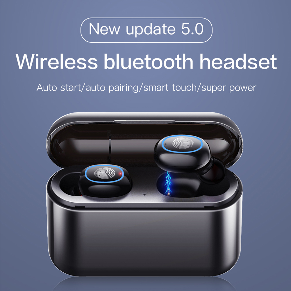 TWS Bluetooth Headset 5,0 Reverse Lade Lager Touch Drahtlose Ohr Eingang Bewegung Headset Multifunktionale Wahre Wireless Stereo