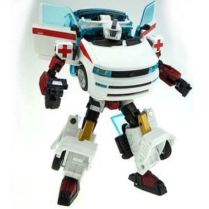 Image 3 - Ambulance Transformer Rescue Pioneer Alteration Simulation Car Robot Toy