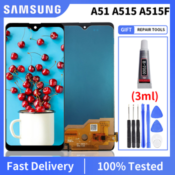 100% tested TFT For Samsung Galaxy A51 LCD A515 A515F A515F/DS A515FD Display Touch Screen with Frame Digitizer Assembly for samsung galaxy s3 tft lcd display lcd touch screen digitizer assembly with frame for samsung galaxy s3 i9300 i9300i i9308i