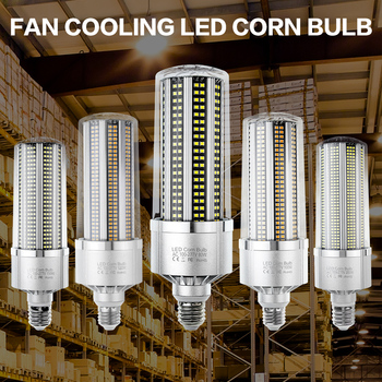 E39 220V LED Corn Bulb 80W 100W 120W 200W E40 High Brightness LED Lamp 110V No Flicker E27 Led Candle Light for Workshop Factory led light e27 led lamp bulb 220v e39 led bulb 50w ampoule 110v high lumen lamp for workshop warehouse factory lighting 5730smd
