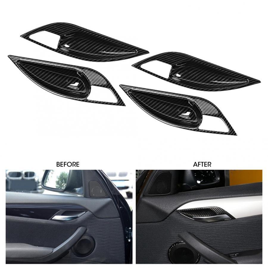4Pcs Carbon Fiber Interior Door Handle Trim Covers Fit for BMW F10 2011-2015