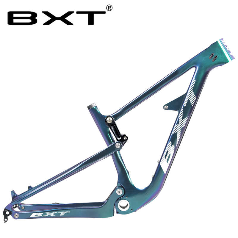 BXT 29er Full Suspension Carbon Mountain Bike Frame 160mm Disc Brake Rear Shock 200*22mm All Mountain MTB Bicycle Frame for AM