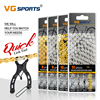 VG Sports Bicycle Chain 6 7 8 9 10 11 Speed Velocidade Titanium Rainbow Gold Silver Mountain Road Bike MTB Chains Part 116 Links