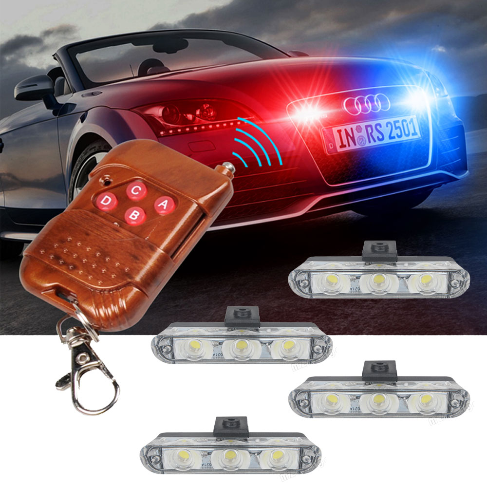 Strobe Light Police Flasher LED Police Lights Stroboscopes Strobe Lights Police Light Led Strobe Light Auto Fso Flash Flashing