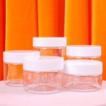 30ml/40ml/50ml/60ml/80ml przezroczysty z tworzywa sztucznego słoik z pokrywkami wielokrotnego napełniania puste pojemniki kosmetyczne słoik na woreczki podróżne makijaż