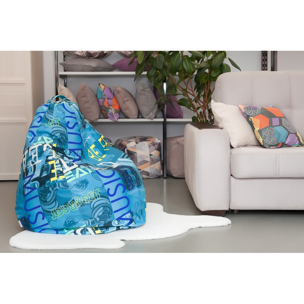Lima-Mini Children 'S Pouf Chair Bag Delicatex Turquoise