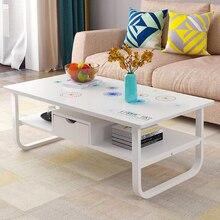 EU RU 120 см длина журнальный столик с полкой ящик для хранения гостиной мебель для дома диван боковой центр большой стол