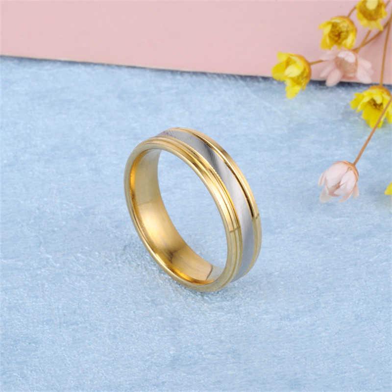 2019 สแตนเลสสตีลแหวนแต่งงานแหวนคู่เครื่องประดับชายแหวนหญิงแหวนหมั้นผู้ชาย