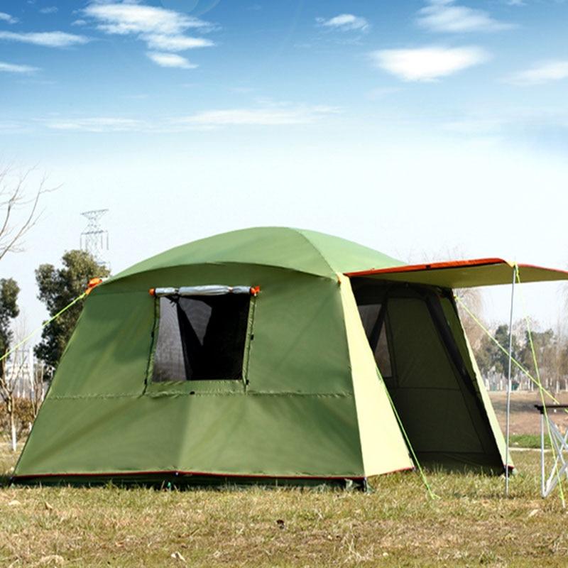 Непромокаемая двухслойная наружная Солнцезащитная 4 углами садовая беседка многослойная кемпинговая палатка для вечеринок тент укрытие о
