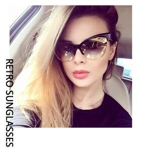 2021 новые брендовые дизайнерские солнцезащитные очки «кошачий глаз» женские солнцезащитные очки Модные леопардовые винтажные металлические ретро солнцезащитные очки UV400