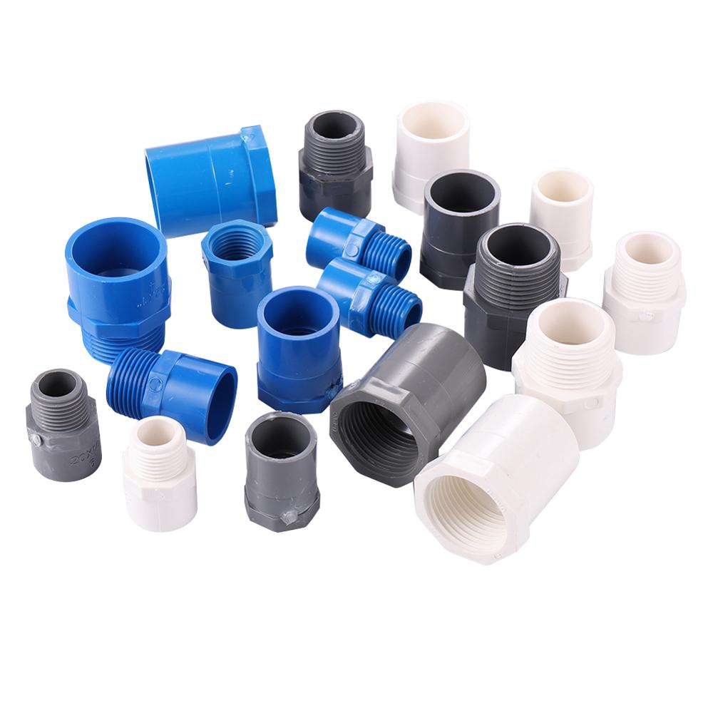 PVC Pipe Repair Adapter BSP 1/2 3/4 1 Male/Female Thread to Inner Diameter 20/25/32mm Garden Irrigation Water Pipe Fitting image