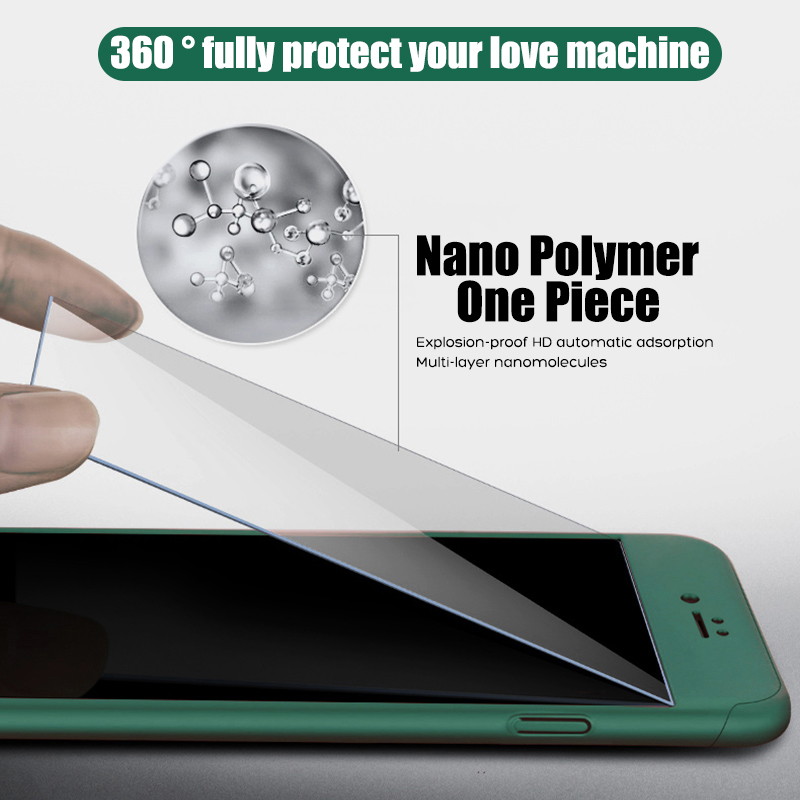 360 Full Body Phone Cases for iPhone 11 Pro Max XR XS X Protective Case for iPhone SE 2020 8 7 6 6S Plus 5 5S Cover with Glass 2
