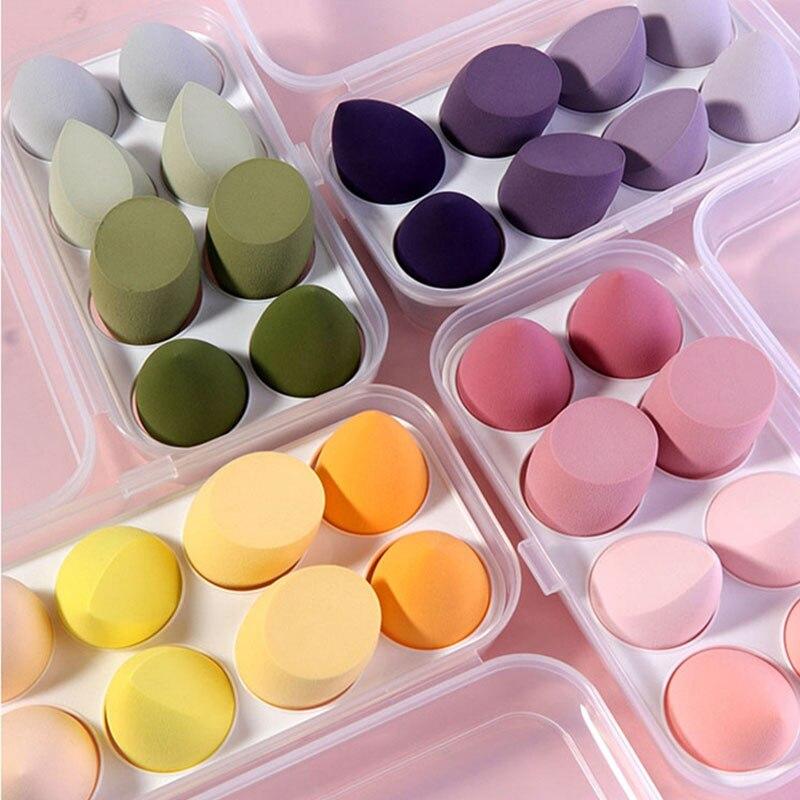 8 pcs set gradiente caixa de ovo conjunto de ferramentas de beleza umida e seca esponja
