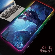 MRGBEST Anime Gaming Computer Mousepad RGB Large Mouse Pad Gamer XXL Carpet Big Mause PC Desk Play Mat with Backlit