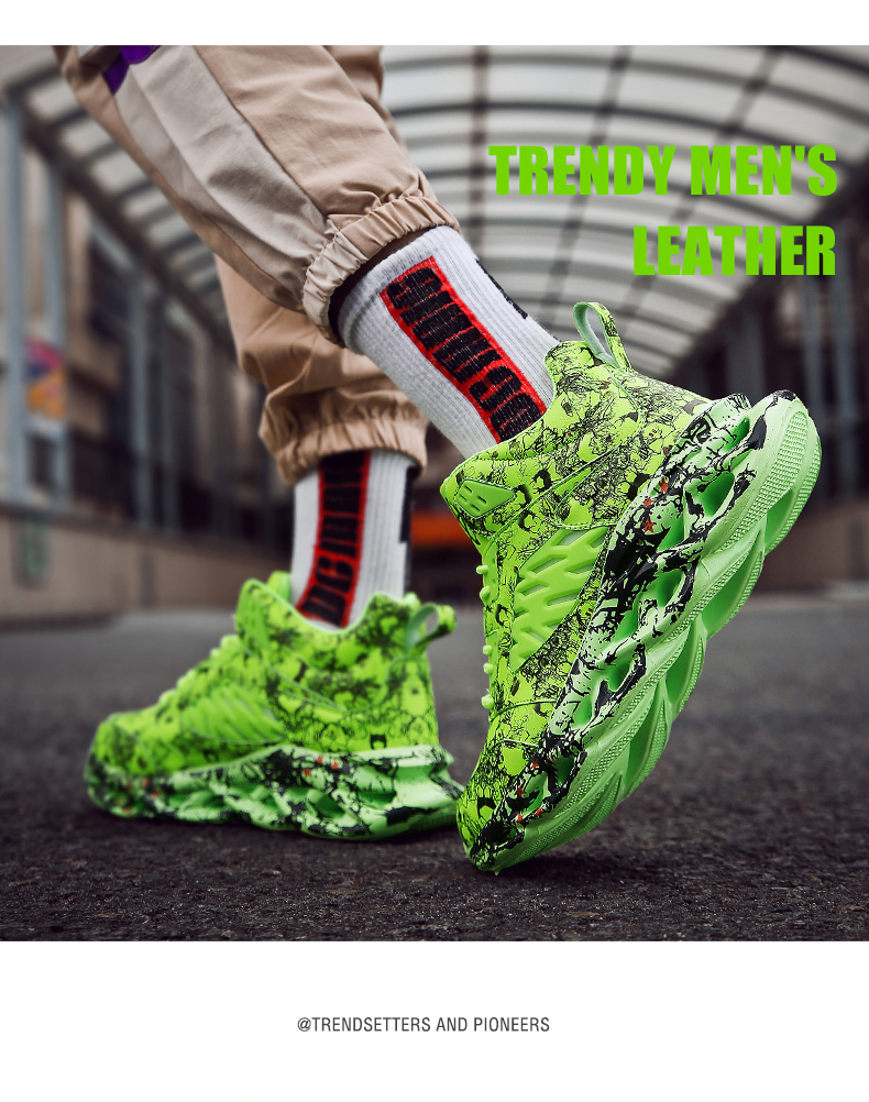 H45283d130615403b8d1ae4d81d91935dR Fashion Men's Hip Hop Street Dance Shoes Graffiti High Top Chunky Sneakers Autumn Summer Casual Mesh Shoes Boys Zapatos Hombre