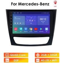 4GWIFI أندرويد 10 سيارة لتحديد المواقع لاعب لمرسيدس بنز الفئة E W211 E200 E220 E300 E350 E240 E270 E280 CLS الفئة W219 لا 2din dvd