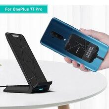 OnePlus 8 Für OnePlus 7T Pro Qi Wireless Charging Ladegerät USB Typ C Empfänger patch sichere Drahtlose Aufladen für ein Plus 8 / 7/7t