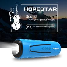 HOPESTAR wireless Bluetooth speaker outdoor waterproof stand bicycle riding portable speakers with flashlight