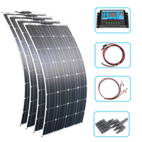 RG 200W 400W Flexible Solar Panel 100W 12V 24v Controller +30A Solar Energy System for Fishing Boat Cabin Camping