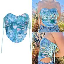 Spring  New Fashion Waist Sexy Printed Girdle European Tie Style and American  Daily Wear and Waist Accessories