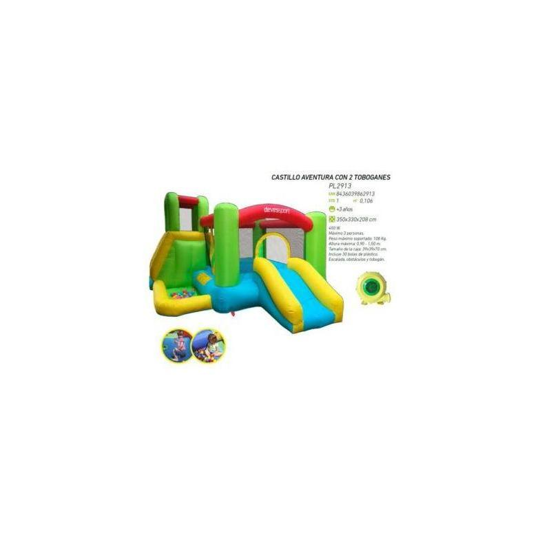 Bouncy Castle Affair With 2 Slides 350X33 Toy Store