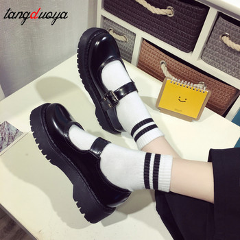 vintage lolita shoes platform cute harajuku shoes mary jane shoes women platform shoes harajuku low heel women School Students