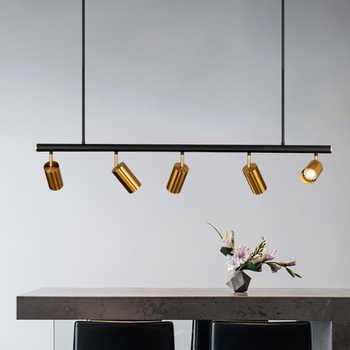 Long Chandelier LED Spot Lamp Kitchen Dining room Bedroom Bar Restaurant led salon lighting Black Gold Color hanging  Lamp Fixtu - DISCOUNT ITEM  30% OFF All Category