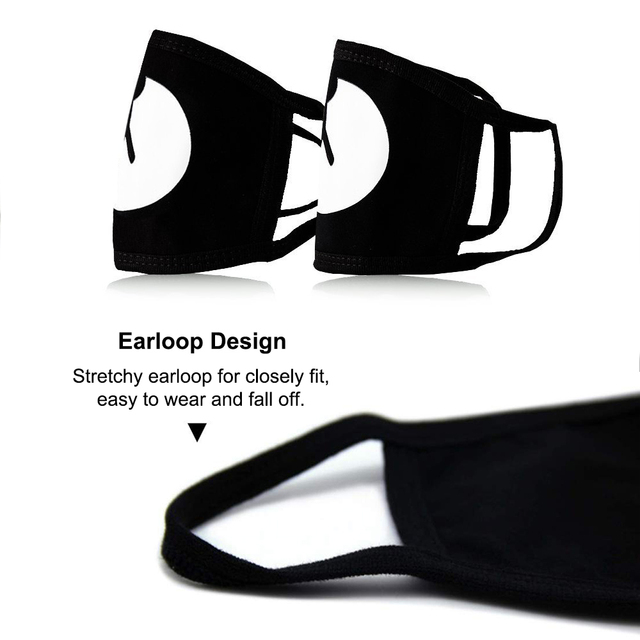 2020 Reusable Luminous Funny Expression Cotton Anti Dust Mouth Face Mask For Black Kpop Unisex Face Mouth Muffle Mask Fashion 2