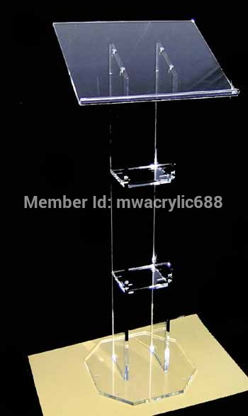Free Shipping HOT SELL Beautiful Acrylic Podium Pulpit Lectern Podium Plexiglass