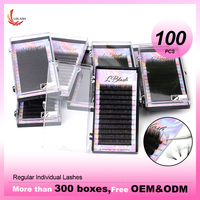 LBLASH 100 Cases 12rows/tray russian volume eyelash extensions supplies lashes extension individual eyelashes extensions