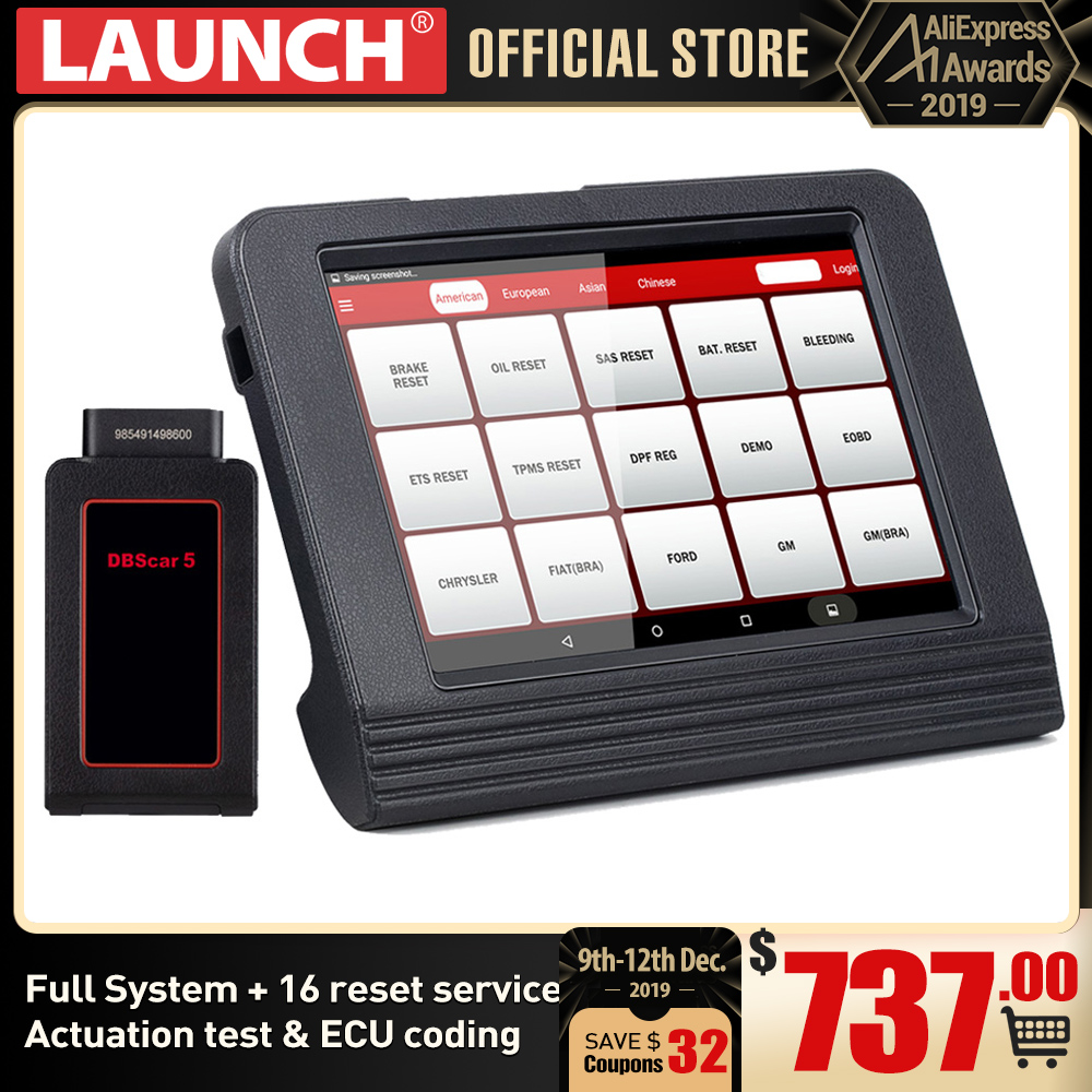 LAUNCH X431 V 8 OBD2 Bluetooth/Wifi Автомобильная полная система диагностический инструмент Предложение 11 Сброс ECU кодирование приведение тест Регулировка автофокуса