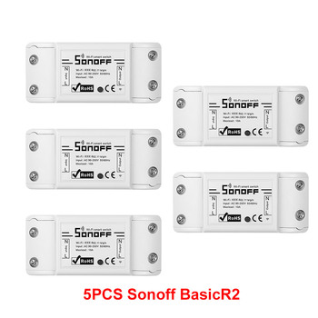 5/10PCS Sonoff Smart Wifi Switch Relay Smart Wireless Control Interruptor Wifi Light Switch Smart Home Remote Work with Alexa 8