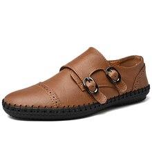 בעבודת יד אמיתי עור גברים נעלי גברים נעליים יומיומיות ופרס מוקסינים Zapatos דה hombre puls גודל 38 48