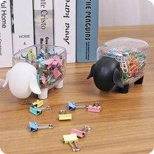Креативный картонный прозрачный бачок для хранения овец, ватные тампоны, держатель для карт, зажимы, Диспенсер, классификация стола