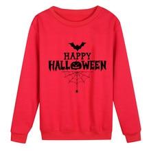 Halloween Blouse Party Women Casual Pumpkin Letter Print Full Sleeve O-Neck Blouse   8.22 цена 2017