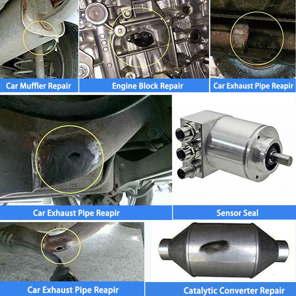 1pc 150g exhaust system pipe repair kit high temperature to 1100c cement crack sealer tailpipe muffler repair adhesive sealant