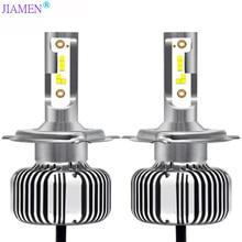 JIAMEN 2PCS H7 LED 6400LM/PAIR  Car Headlight Bulbs H1 H8 H9 H11 Headlamps Kit 9005 HB3 9006 HB4 Auto Lamps