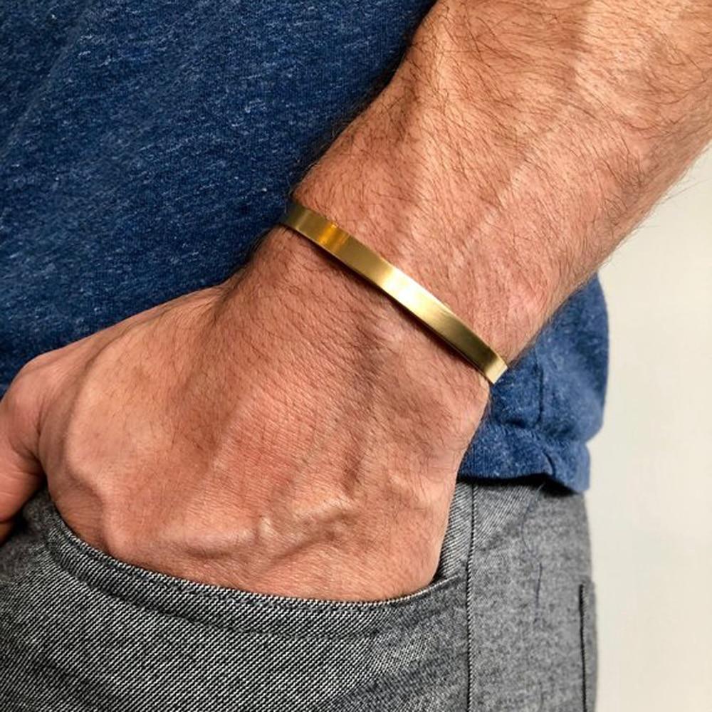 Cuff Bracelets Men Bangles Gold Bangle
