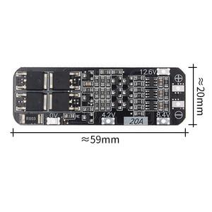 Image 1 - 50 قطعة 3 ثانية 20A ليثيوم أيون بطارية 18650 شاحن PCB BMS لوحة حماية 12.6 فولت خلية 59x20x3.4 مللي متر وحدة