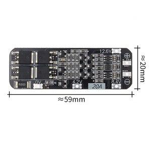 Image 1 - 50 個 3S 20A リチウムイオンリチウム電池 18650 充電器 PCB BMS 保護板 12.6V 携帯 59 × 20 × 3.4 ミリメートルモジュール