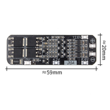 50pcs 3S 20A Li ion Lithium Battery 18650 Charger PCB BMS Protection Board 12.6V Cell 59x20x3.4mm Module