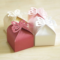 100pcs/lot Hollow Butterfly Candy Box Gift Box Wedding Candy Bag Christmas Festival Birthday Party Gift Bags Packing Decoration