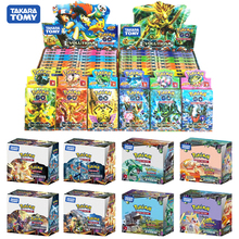 Juego de cartas de pokemon gx MEGA brillante para niños, juego de 324 uds, 100 uds, divertido francés e inglés, cartas de batalla