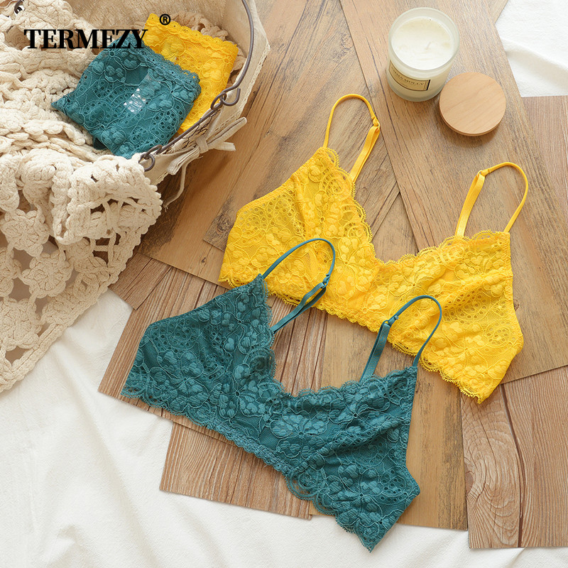 TERMEZY Women Lace Bra Set Lingerie Set Sexy Women Underwear Set Ladies Sexy Bralette Set VS Bra Soft Comfortable Underwear