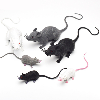 Simulation Mouse Model Plastic White Gray Black Mouse Shooting Props Teaching Aids Tricky April Fool's Day Toy new black simulation crow toy plastic